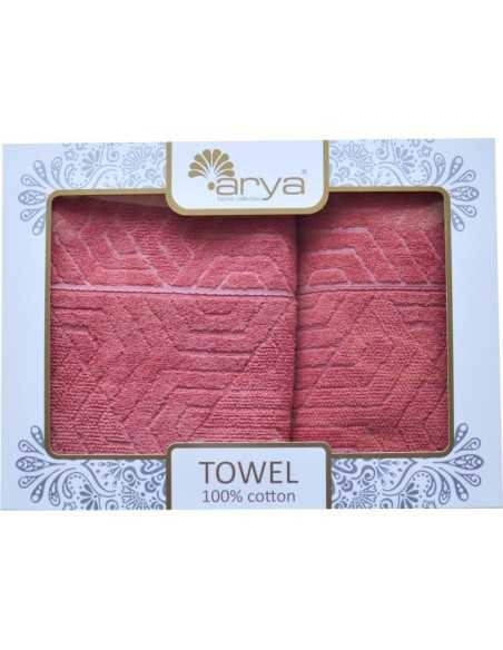 Набор полотенец Arya Volie 50х90-70х140 см, персиковый