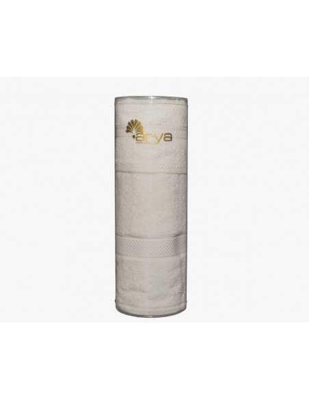 Набір рушників в тубі Arya Miranda Soft 30х50-50х90 см, білий