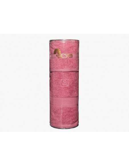 Набор полотенец в тубе Arya Miranda Soft 30х50-50х90 см, персиковый, голубой