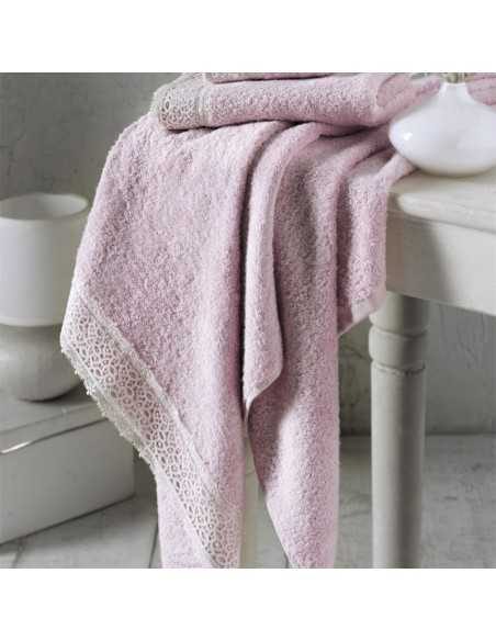Набор полотенец Altinbasak Veronica 30х50 см, 50х90 см, 70х140 см, pembe (розовый)