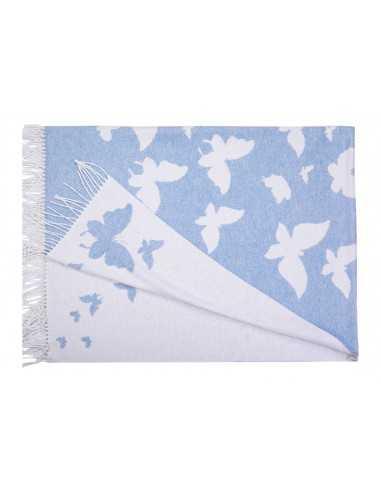 Плед Love You Бабочка Голубой, 140х200 см