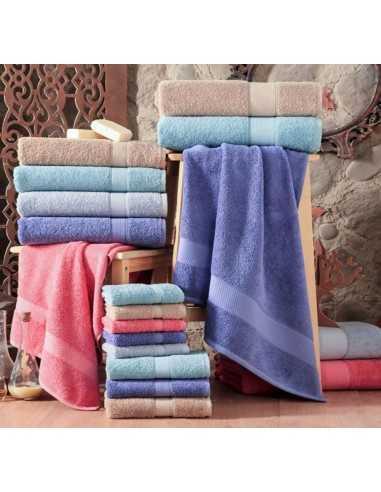 Полотенце Arya Miranda Soft 100х150 см, светло-голубой