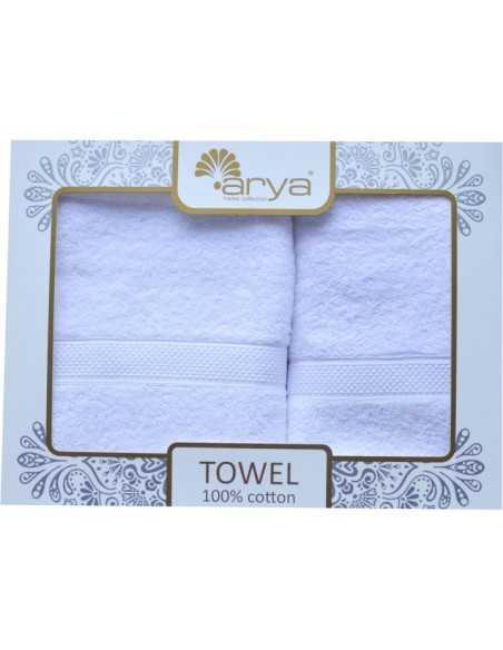 Набор полотенец Arya Miranda Soft 50х90-70х140 см, аква