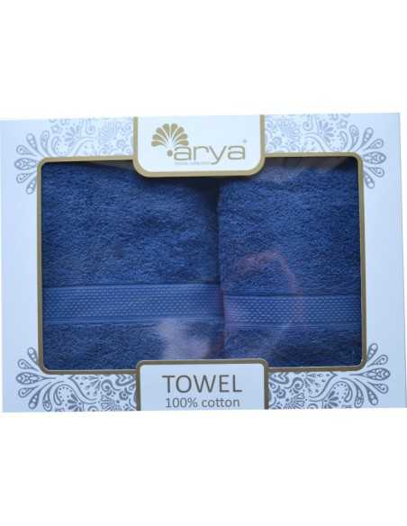 Набор полотенец Arya Miranda Soft 50х90-70х140 см, синий