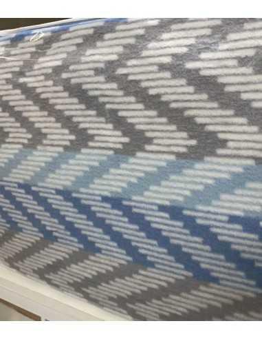 Плед Tac Cotton Battaniye Capri Голубой, 200х220 см