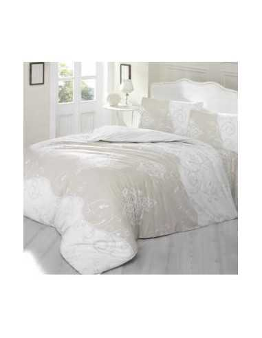 Полуторное постельное белье Altinbasak Meline Acik Kahve, на резинке