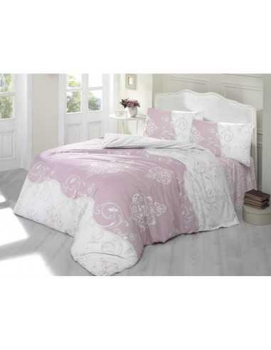 Полуторное постельное белье Altinbasak Meline Pembe, на резинке