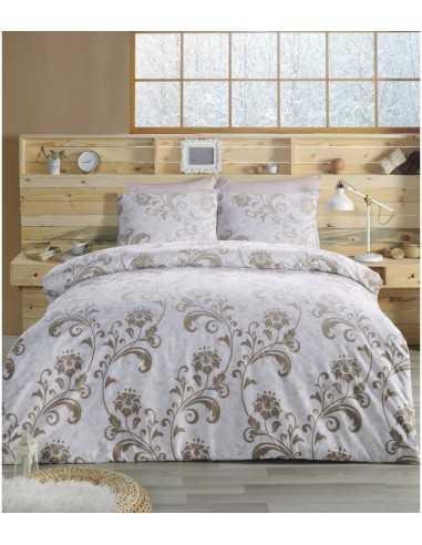 Полуторное постельное белье Altinbasak Lucian Kahve, на резинке