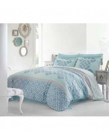 Семейное постельное белье Altinbasak Alona Mavi
