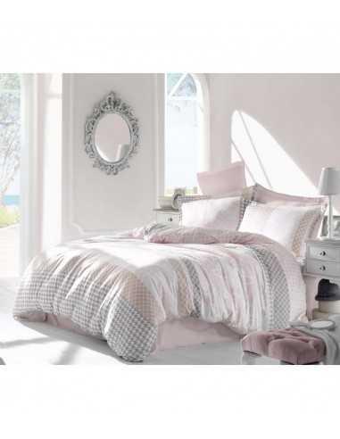 Семейное постельное белье Altinbasak Risha Pembe