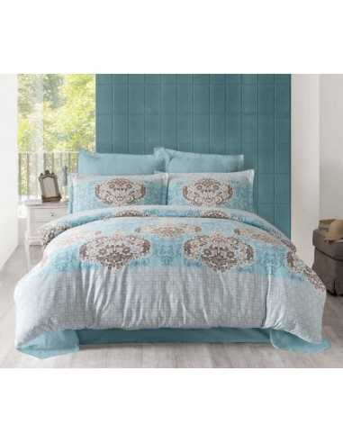 Семейное постельное белье Altinbasak Sayka Mavi