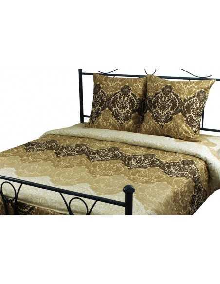 Полуторное постельное белье Руно Beige Brown 3603, 50х70 (2шт) см