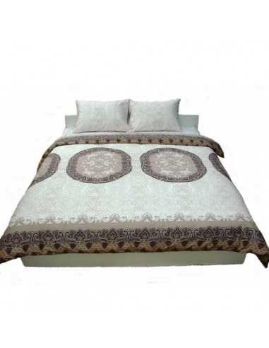 Двоспальна постільна білизна Руно Front Beige, 50х70 (2шт) см
