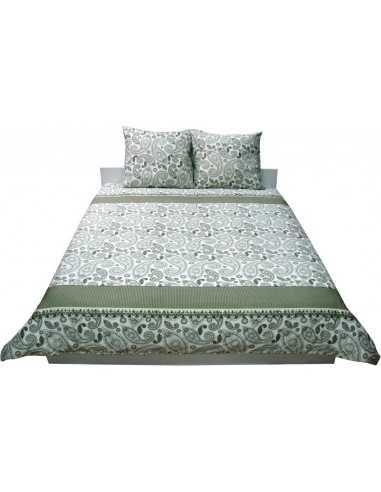 Полуторное постельное белье Руно Green Khaki 40-0377, 50х70 (2шт) см