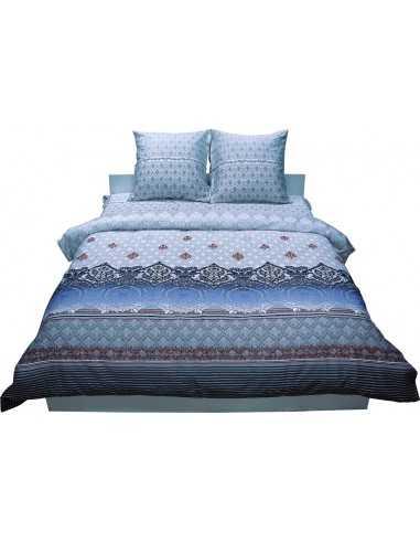 Двуспальное постельное белье Руно Grey 3604, 50х70 (2шт) см