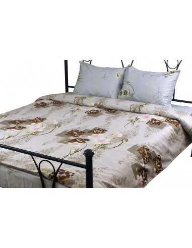 Полуторное постельное белье Руно Grey Pink, 70х70 см