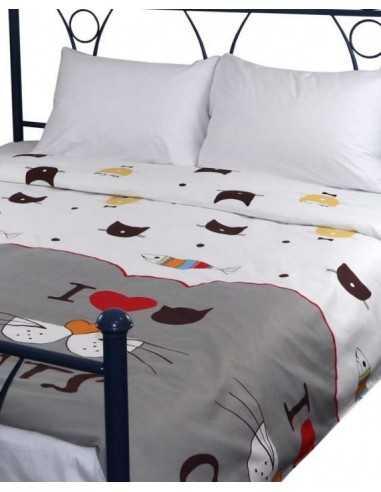 Двуспальное постельное белье Руно My cat, 70х70 (2шт) см